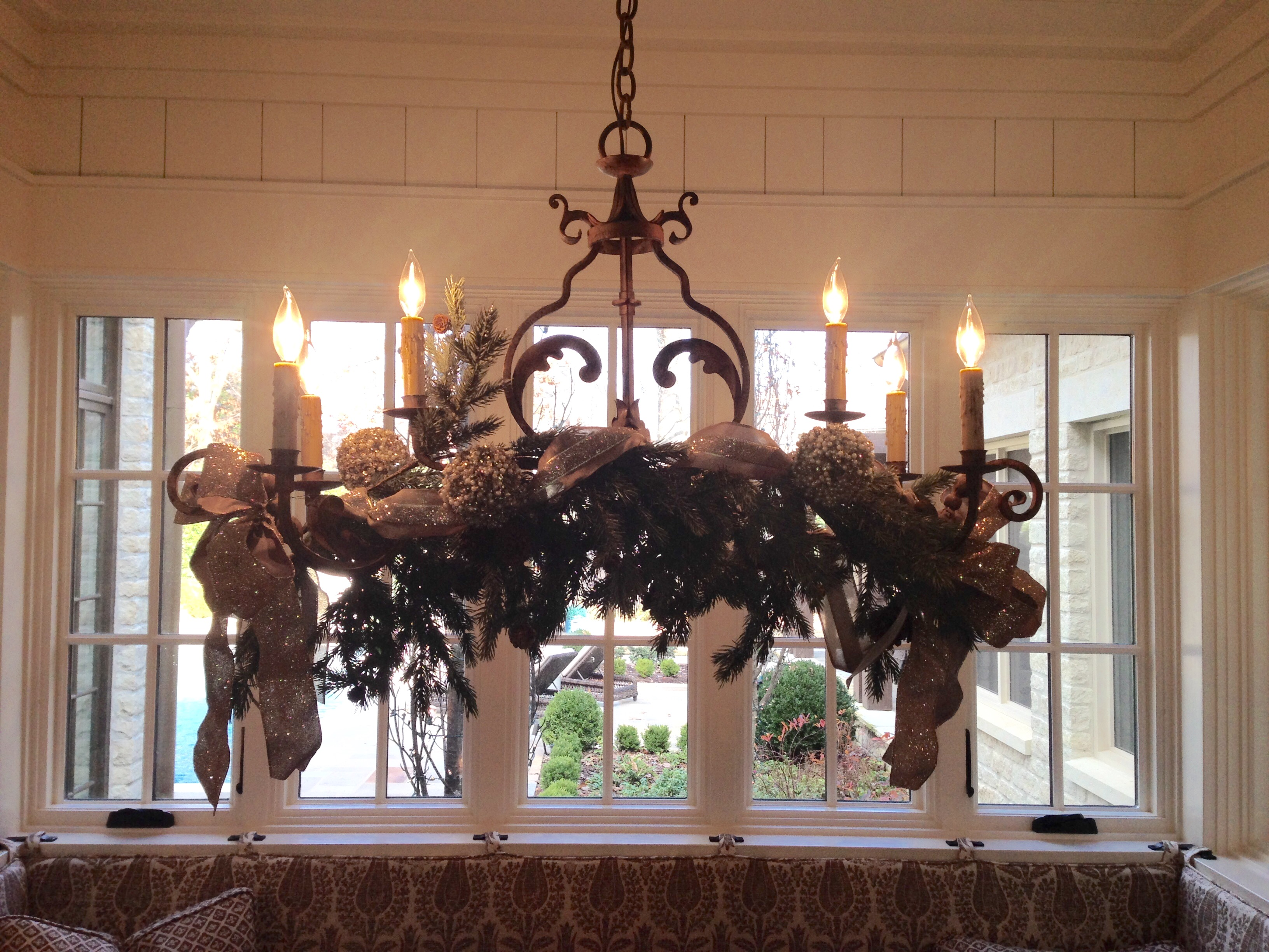 Decorating A Chandelier For Christmas | Newchristmas.co
